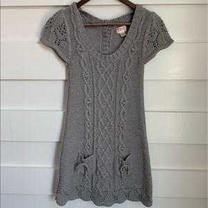 (NWOT) Cozy Grey Knit Dress